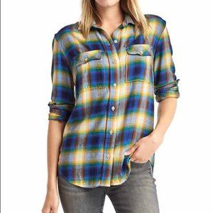 GAP x Pendleton Boyfriend 2 Pocket Flannel Plaid
